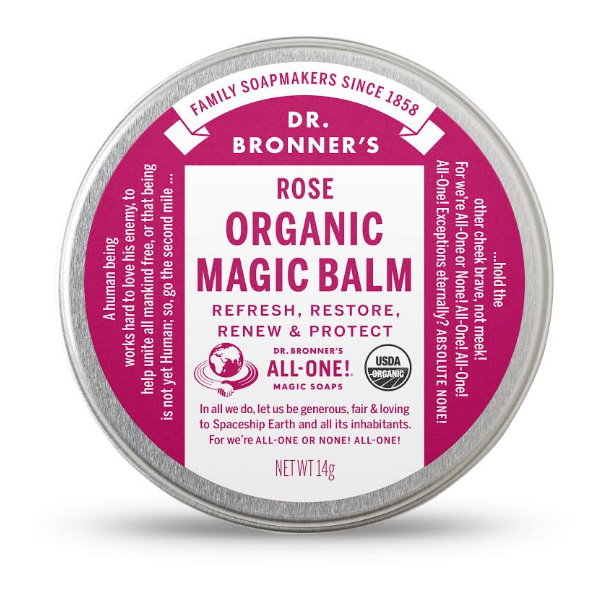 Dr.Bronner's,布朗博士,蚊蟲叮咬,玫瑰神奇膏,保濕,鎖水,萬用,有機,指緣油,護唇膏,試用,體驗